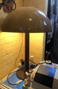 Vintage paddestoel lamp