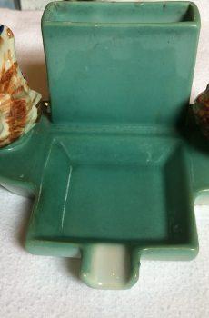 Vintage asbak met sigarettenhouder 1