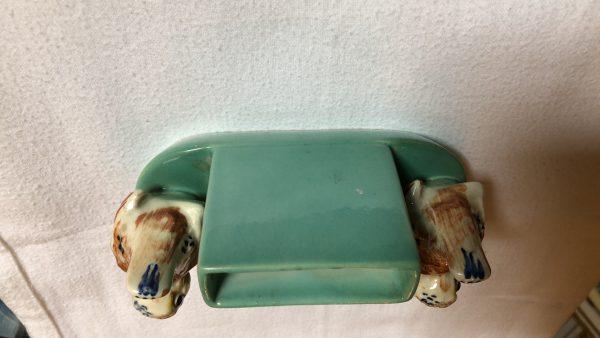 Vintage asbak met sigarettenhouder achterkant 1