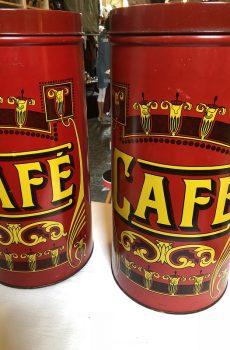 Brocante koffieblikken
