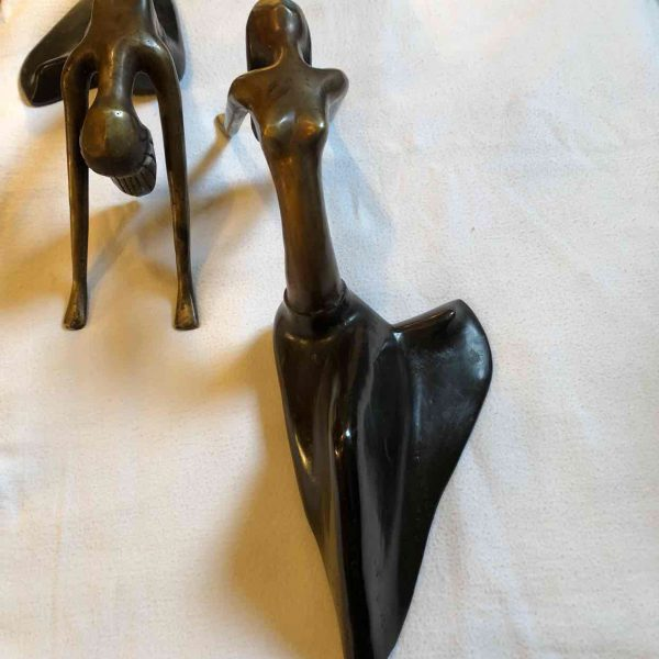 2 Art Deco Danseressen van brons 1 1
