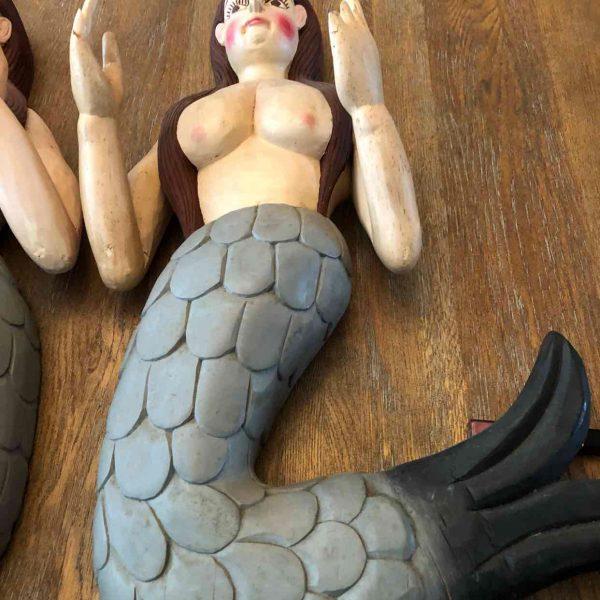 Houten handgemaakte zeemeerminnen 1 1