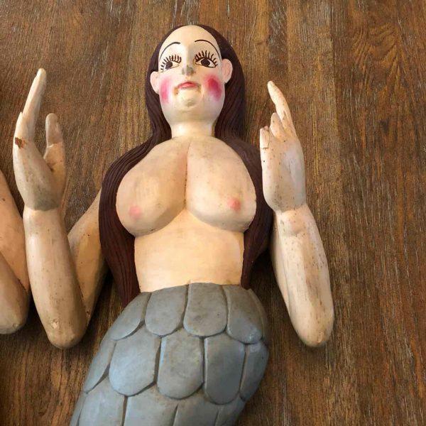 Houten handgemaakte zeemeerminnen 2 1