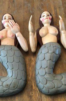 Houten handgemaakte zeemeerminnen 5