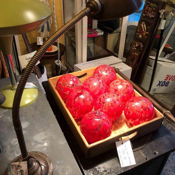 Handgemaakte glazen kerstballen 2