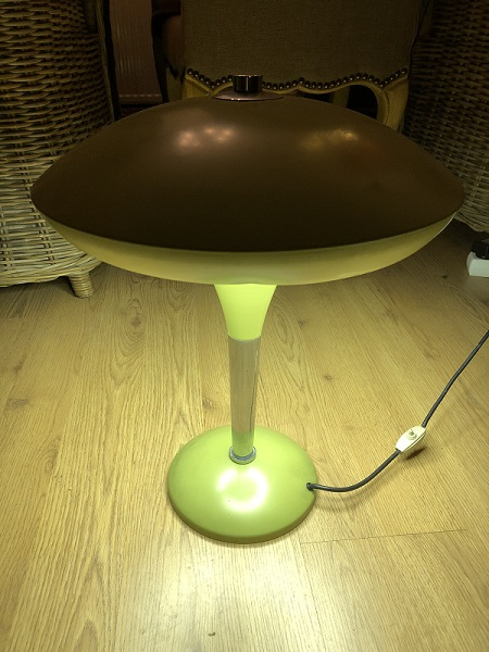 Vintage lamp olijfgroen 1